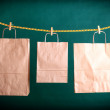 Shopping paper gift bags — Stock Photo