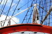 Masts and rope of sailing ship. — Stock Photo
