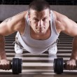 Pushups workout - Stock fotografie