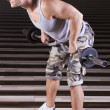 Stock Photo: Heavy exercise