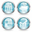 Set Business Buttons — Stock Vector