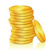 Stapel von goldmünzen — Stockvektor