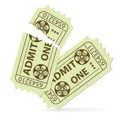 Set Cinema Ticket — Stock Vector