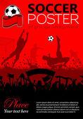 Voetbal poster — Stockvector