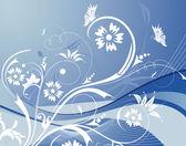 çiçek arka kelebek ile — Stok Vektör