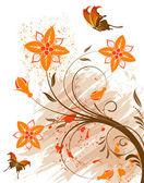 Grunge blomma bakgrund — Stockvektor