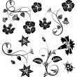 Collect flower border — Stockvector #8004147