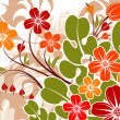 Grunge flower background — Stock Vector #8004276