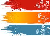 Grunge flower background — Wektor stockowy
