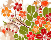 Grunge flower background — Stock Vector