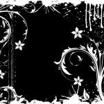 Grunge Floral Frame — Stock Vector #8051139
