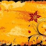 Grunge Floral Frame — Stock Vector #8051164