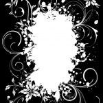 Grunge Floral Frame — Stock Vector #8051243