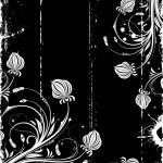 Grunge Floral Frame — Stock Vector #8051253