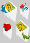 Set of Envelopes — Stock Vector