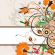 Grunge Floral Frame — Vecteur #8548590