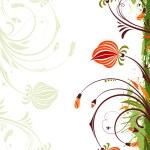 marco floral Grunge — Vector de stock  #8548611