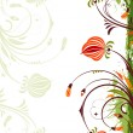 grunge 花卉帧 — 图库矢量图片 #8548611