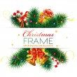 Vector de stock : Christmas Frame