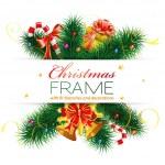 cadre de Noël — Vecteur