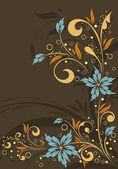 Floral frame — Stockvector