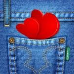 Valentine Jeans Texture — Stock Vector