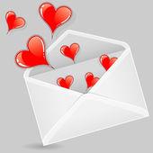 バレンタイン封筒 — ストックベクタ