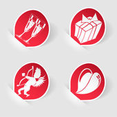 Collect Sticker for Valentine's Day — Stockvector
