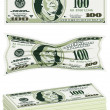 Set of Dollar Bills — Stock Vector