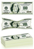 Conjunto de billetes — Vector de stock