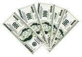 五 100 美元的钞票 — 图库矢量图片