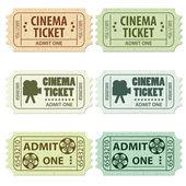 Ticket de cinéma set — Vecteur