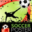 affiche football — Vecteur