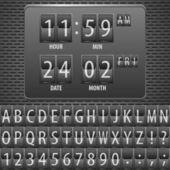 Temporizador de cuenta atrás en el calendario mecánico — Vector de stock
