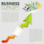 éxito en los negocios — Vector de stock