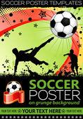 Afiche de futbol — Vector de stock