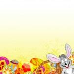 Easter Frame — Stock Vector