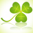 Leaf Clover on St. Patrick's Day — Stock Vector