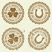 святого патрика день марок — Cтоковый вектор