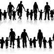 Collect family silhouettes — Vector de stock #9475598