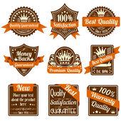 质量和保证标签 — 图库矢量图片