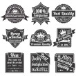 Quality and Guarantee Labels - Stock Vector