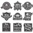 Quality and Guarantee Labels — Stock Vector