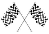 Racing Checkered Flags Finish — Vector de stock