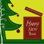 新しい年のデザイン — ストックベクタ
