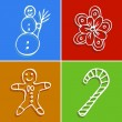Christmas icons — Vector de stock #10138245