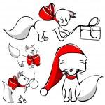 Christmas Cat set — Stock Vector #10138266