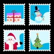 Royalty-Free Stock  : Christmas stamp set