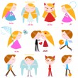 Cute cartoon kids vector — Stock Vector #10138534