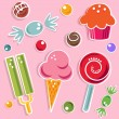 Candies and sweet — Stock Vector